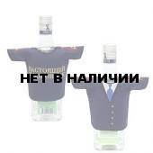 Рубашка-сувенир Настоящий полковник синяя вышивка