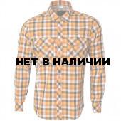 Рубашка Prairie клетка оранжевая