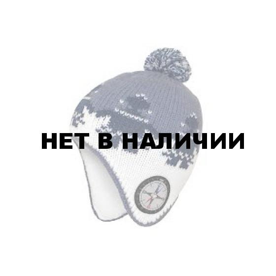 Шапка полушерстяная marhatter 4116 белый/синий