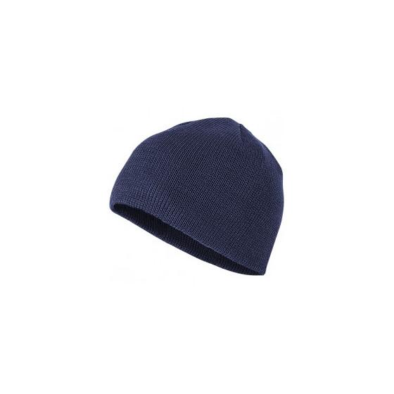 Шапка полушерстяная синяя арт. 221