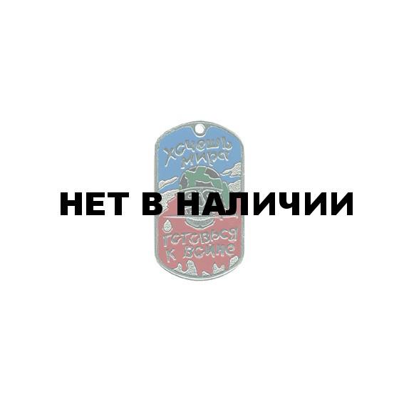 Жетон 9-2 Хочешь мира готовься к войне бандана город металл