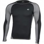 Термобелье футболка L/S Dynamic черно-серая