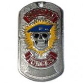 Жетон 2-2 SPECIAL FORCES череп голубой берет металл