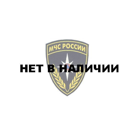 Нашивка на рукав МЧС России черный фон пластик
