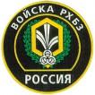 Нашивка на рукав Россия Войска РХБЗ тканая