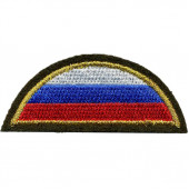 Нашивка на рукав с липучкой ВС РФ триколор полукруг оливковый фо
