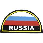 Нашивка на рукав RUSSIA желтый кант пластик