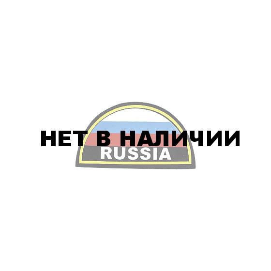 Нашивка на рукав RUSSIA желтый кант вышивка шелк