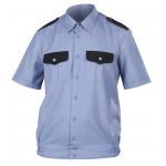 Рубашка Охранника ГЕКТОР с коротким рукавом голубая, ткань Панацея