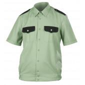 Рубашка Охранника ГЕКТОР с коротким рукавом олива черн/отд