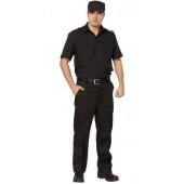 Рубашка Охранника в запр. черн. с коротким рукавом, ткань Панацея