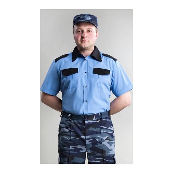 Рубашка Охранника в запр. гол. с коротким рукавом с ч/вор