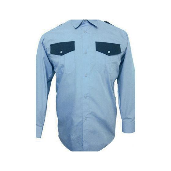 Рубашка Охранника в запр. с/г, длинный рукав, с отд.