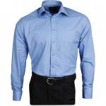Рубашка Охранник Премиум, длинный рукав, светло голубая
