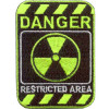 Термонаклейка -0344 Danger запретная зона вышивка
