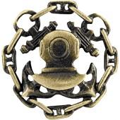 Миниатюрный знак Водолаз металл