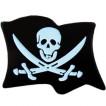 Миниатюрный знак Флаг Веселый Роджер металл