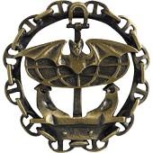 Нагрудный знак Мышь с цепью металл