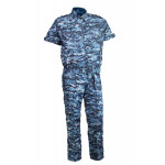 Костюм летний МПА-08 (Пелей-2), камуфляж серо-голубая цифра круп, Панацея