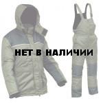 Костюм зимний УРАЛ-Комфорт хаки с черным (твилл/файбертек)