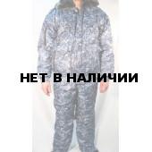 Костюм зимний СВЯТОГОР, камуфляж серо-голубая цифра (оксф, файб)
