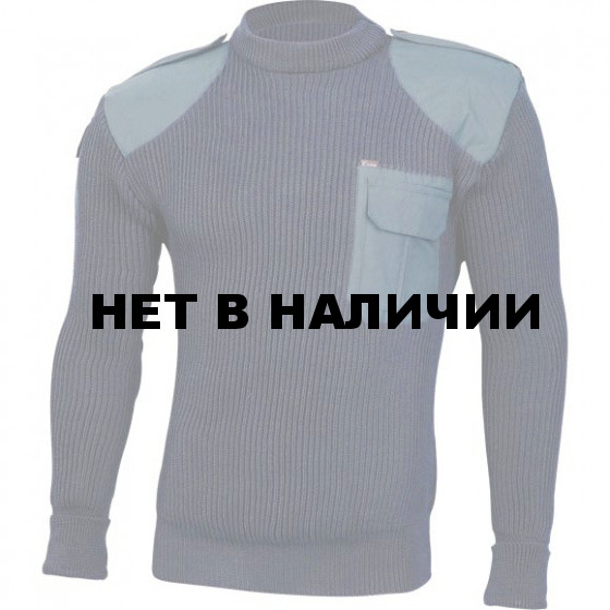 Свитер с накладками арт.с45 синий