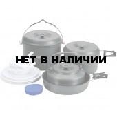 Набор посуды 2 кастрюли, 1 сковородка, 1 чайник (6-7 персон)