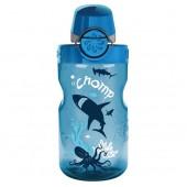 Бутылка Nalgene OTF KIDS SLATE CHOMP W/BLU CAP
