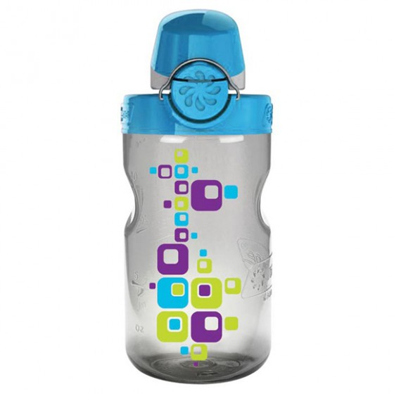 Бутылка Nalgene OTF KIDS GRAY SQUARE W/BLU CAP
