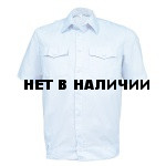 Рубашка ПОЛИЦИЯ серо-голубая с коротким рукавом на резинке