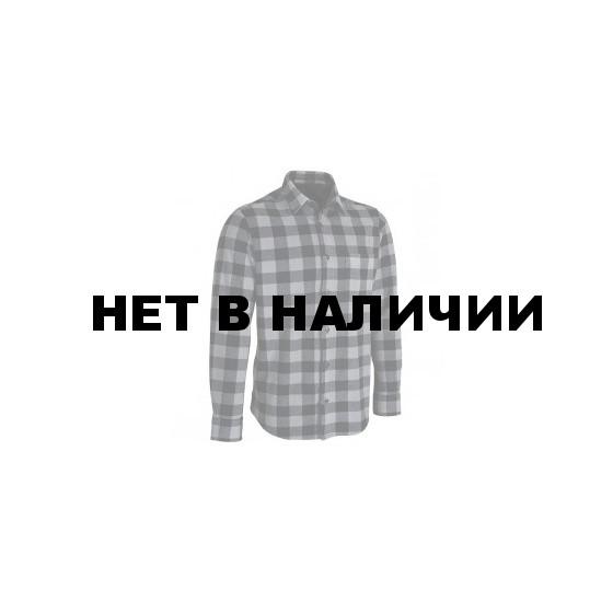 Рубашка флисовая клетчатая grey/black