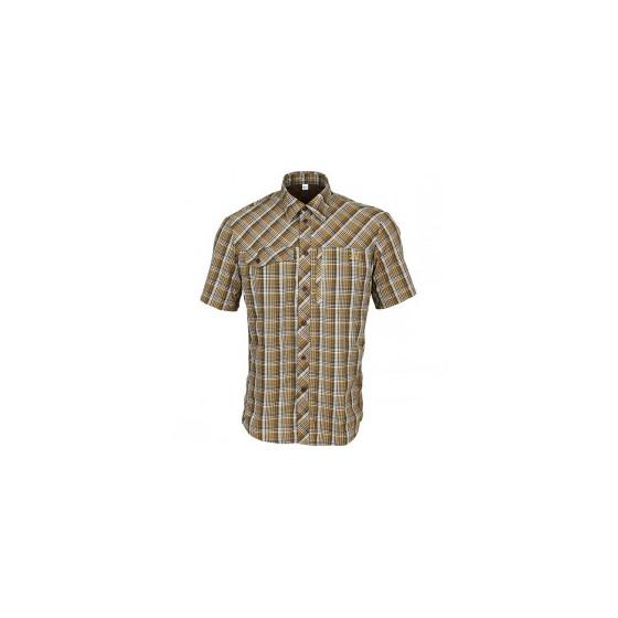 Рубашка Grid, короткий рукав, chocolate jazzy