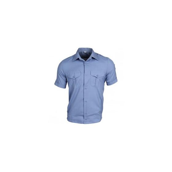 Рубашка форменная, короткий рукав, голубая