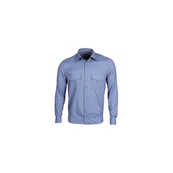 Рубашка форменная, длинный рукав, голубая