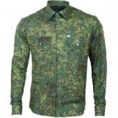 Рубашка форменная, длинный рукав, цифровая флора