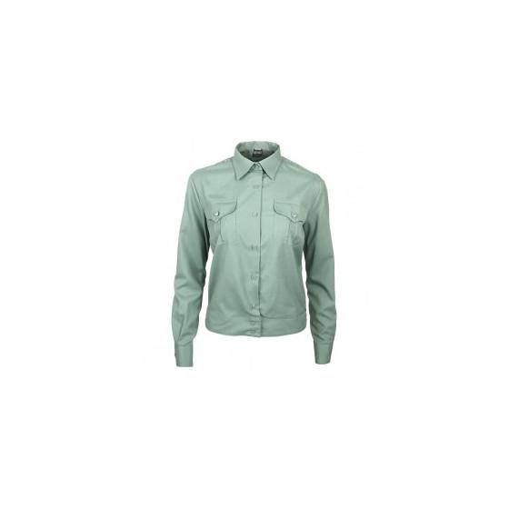 Рубашка форменная женская, длинный рукав, зеленая