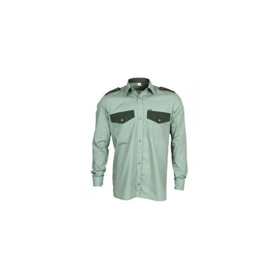 Рубашка Охранник, длинный рукав, зеленая