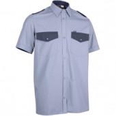 Рубашка Охранник, короткий рукав, синяя