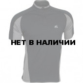 Поло Action Dry черный/серый