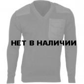 Свитер с накладками арт.55 черный