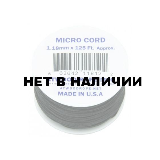 Паракорд Atwoodrope 1.18мм х 125 Micro Cord 38м neon orange