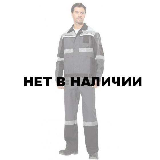 Костюм Виват с полукомбинезоном (ткань смесовая) сер.+черн.+св.сер.