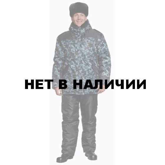 Куртка Полюс-2 (камуфляж серая+черная) удлиненная