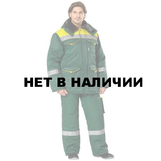 Костюм Монтажник утепленный (зеленый+желтый)