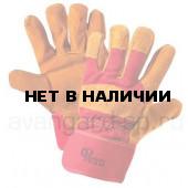 Перчатки РУССКИЕ ЛЬВЫ спилковые комбинированные утепленные