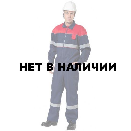 Костюм Актив с полукомбинезоном (темно-синий+красный) с СОП (распродажа)