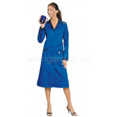 Халат женский Технолог (василек+синий), ткань смесовая