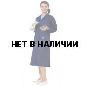 Халат женский Технолог (синий+василек), ткань смесовая
