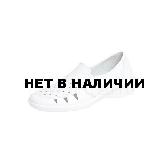 Туфли женские Медистеп, крупная перфорация, ПУ