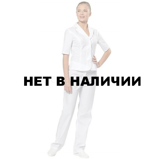 Брюки медицинские женские Лирика (белый)